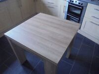 NEXT Dining Table, Limed Oak, 80 x 80cm, extends to 160 x 80cm,