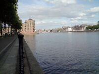 Very special 2 bed flat with direct water views of Greenland Dock, SE16, close to tube and shops!!!!