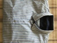 """Ted Baker striped long sleeved shirt, slim fit, chest 42"""", waist 36"""". Excellent condition"""