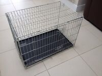 Double Door Dog Training Crate including cover