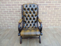 Slipper Quality Whiskey Chesterfield Armchair (UK Delivery)