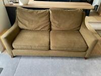 M&S brown sofa and chair