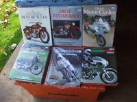 6 CLASSIC MOTORBIKE BIKE BOOKS. LOT 1