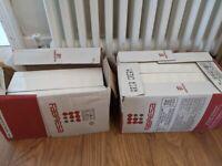 64 surplus Gorgeous cream tiles 10x30. Plus free box of white metro tiles 10x20