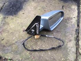 AUDI A2 COMPLETE ELECTRIC DRIVERS DOOR MIRROR IN LIGHT BLUE