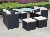 9 PIECE OUTDOOR/INDOOR RATTAN SET