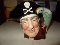 ROYAL DAULTON, CHARACTER TOBY JUG, OF LONG JOHN SILVER, HAND PAINTED,IDEAL FOR COLLECTOR,OR PRESENT