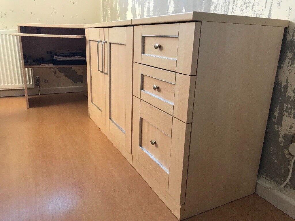 Computer Desk File Drawer Cabinet Cupboard