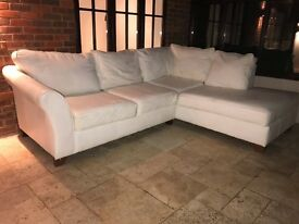 White Marks & Spencer Corner Sofa