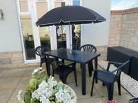 Black/graphite garden furniture set - brand new