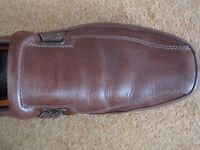 Mens brown leather shoes - size 10