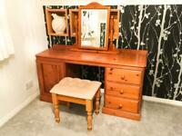 Pine Dressing Table & Stool