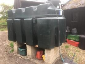 Oil storage tank large -2500L/500 gallons top quality £500/1500£ new!