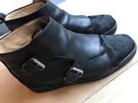 Louboutin Hightop Sneakers Size UK 9, EU 43, Off white, Balenciaga, biker, black