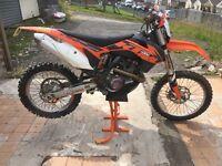 Ktm 450 sfx motor x road registered