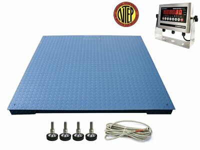 Ntep 48 X 48 4 X 4 Led Industrial Warehouse Floor Scale 5000 Lbs X 1 Lb