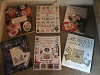 Assorted cross stitch books