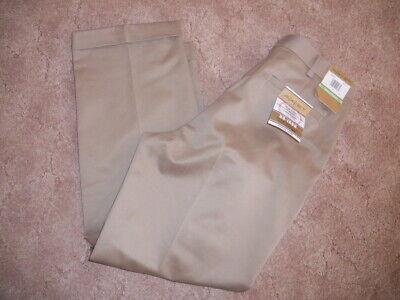 Mens Axist No Iron Twill Khaki Slacks Dress Pants 34 x 30 New NWT Pleated -