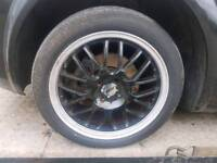 4x100 17 inch alloy wheel alloys tyres