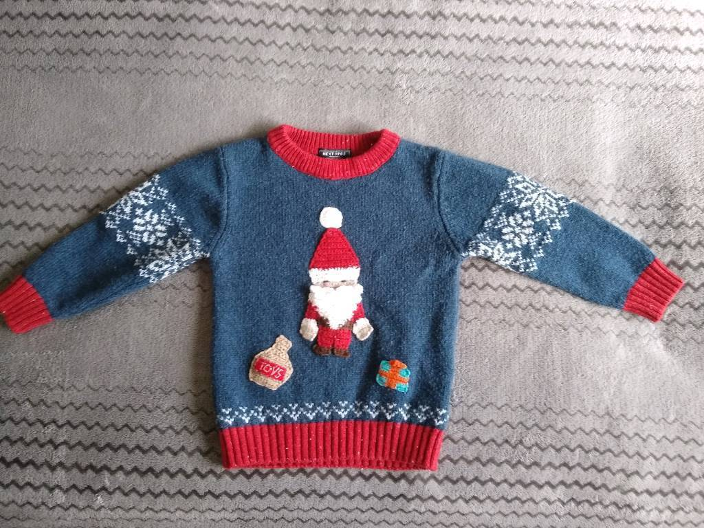 Next Baby Boys Christmas Sweater Jumper Size 12 18 Months In