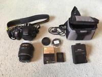 Nikon D3200 DSLR Camera w/ 18-55mm lens, accessories - VERY LOW SHUTTER COUNT!