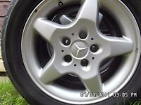 4 x wheels mercedes wheels but fitted to a vw caravelle t4 pics taken27-09-16 today