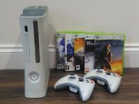 Xbox 360 60GB with various games