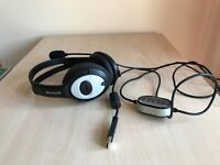 Headset --Microsoft LifeChat LX-3000 Stereo Headset--very good condition
