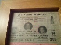 Cassius clay vs henry cooper ticket £200 cash