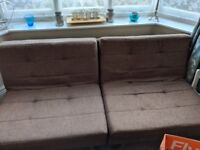 Brown Sofa Bed in excellent condition.
