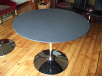 NEXT Round Dining table. Granite effect top.