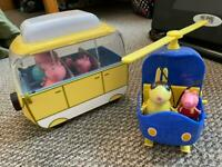 Peppa pig vehicles and figures
