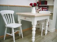 Stunning Pine Country Farmhouse 3ft Table and Chair Set.