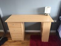 Spacious wooden table