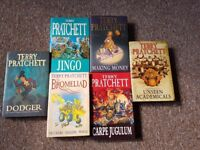 Terry Pratchett hardback books.