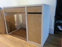 Free white/beech effect IKEA desk