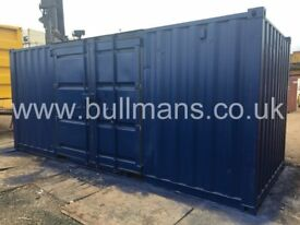 20ft - refurbished / repainted shipping container with side access doors, storage container for sale