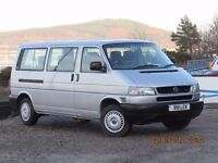 2002/52 VW CARAVELLE 9 SEAT LONG NOSE. 2.5 102bhp NO RUST VERY CLEAN AND LOW MILES.