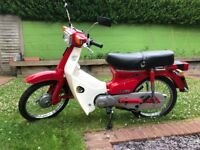 1986 Honda C50L Auto for sale. Immaculate condition, just 2,200 miles, new tyres and recent service.