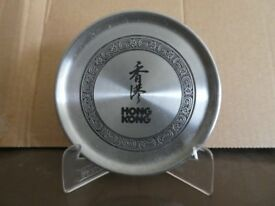Pewter Hong Kong dish with display stand.From Hong Kong ,China,