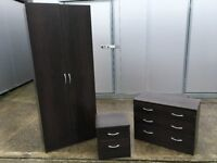 Wardrobe, drawers and side drawers