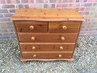 Lovely solid pine chest of drawers