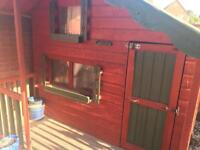 Wooden two storey play house