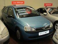 VAUXHALL CORSA 1000 CC 3 DOOR IN MET BLUE EXCELLENT CONDITION NEW MOT £795 PX VAN OR CAR