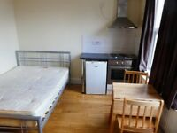 Lea Bridge Rd E10. Rent includes utility bills. Well located studio flat near transport and shops