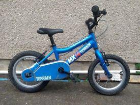 """Ridgeback mx14 Terrain Blue 14"""" kids bike"""