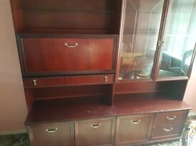 mahogany display unit