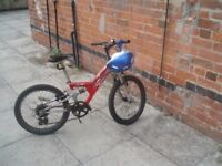 """YOUNG LADS 20""""wheeled full suspension bike"""
