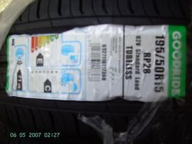 Brand New Car Tyres 195/50/R15