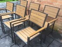 """PollyWood Set Of Six 'Stacking"""" Chairs, New Unused."""